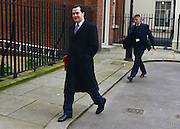 © Licensed to London News Pictures. 26/03/2013. Westminster, UK. George Osborne, Conservative MP, Chancellor of the Exchequer. Ministers inDowning Street, London, for Cabinet today, 26th March 2013. Photo credit : Stephen Simpson/LNP