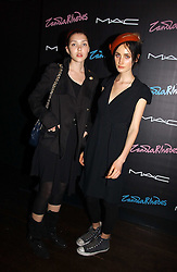 Left to right, HANA KNIZOVA and CHRISTINA CAREY at a party to celebrate Zandra Rhodes's return to London Fashion week and the launch of a limited edition of M.A.C makeup at Silver, 17 Hanover Square, London W1 on 20th September 2006.<br />