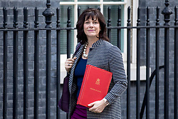 © Licensed to London News Pictures. 26/02/2019. London, UK. Minister of State at Department for Business, Energy and Industrial Strategy Claire Perry arrives on Downing Street for the weekly meeting of the Cabinet. Prime Minister Theresa May will make a statement in Parliament to update MPs on Brexit this afternoon. Photo credit: Rob Pinney/LNP
