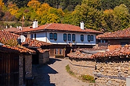 Picturesque bulgarian village in sunny autumn time