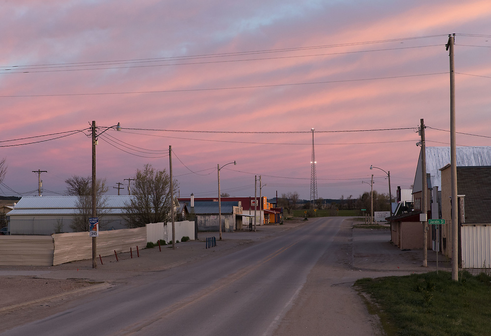 Whiteclay, Nebraska, around 8 p.m. on Sunday, April 30, 2017. <br /> <br /> MATT DIXON/THE WORLD-HERALD