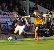 Dundee's Josh Skelly goes past Dundee United's Blair Spittal - Dundee v Dundee United, SPFL Development League at Gayfield, Arbroath<br /> <br />  - &copy; David Young - www.davidyoungphoto.co.uk - email: davidyoungphoto@gmail.com