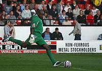 Photo: Mark Stephenson.<br /> Walsall v Aston Villa. Pre Season Friendly. 07/08/2007.Walsall's goal keeper Clayton Ince