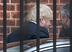 © Licensed to London News Pictures. 16/12/2019. London, UK. British Prime Minister BORIS JOHNSON is seen returning to Downing Street in Westminster, London. Last week the Conservative Party achieved a majority of 80 seats in a general election which saw large numbers of seats traditionally held by Labour switch to the Tories. Photo credit: Ben Cawthra/LNP