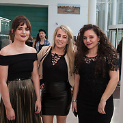 13.05.2016.           <br /> Caoimhe Dowling, Listowel, Emma O'Hara, Wexford and Daniela Vasilean, Nenagh pictured at the much anticipated Limerick School of Art & Design, LIT, (LSAD) Graduate Fashion Show on Thursday 12th May 2016. The show took place at the LSAD Gallery where 27 graduates from the largest fashion degree programme in Ireland showcased their creations. Ranked among the world's top 50 fashion colleges, Limerick School of Art and Design is continuing to mould future Irish designers.. Picture: Alan Place/Fusionshooters