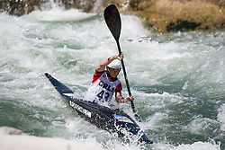 Cindy POESCHEL of Germany during the Canoe Single (WK1) Womens Final race of 2019 ICF Canoe Slalom World Cup 4, on June 28, 2019 in Tacen, Ljubljana, Slovenia. Photo by Sasa Pahic Szabo / Sportida
