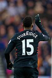 SUNDERLAND, ENGLAND - Monday, January 2, 2017: Liverpool's Daniel Sturridge celebrates scoring the first goal against Sunderland during the FA Premier League match at the Stadium of Light. (Pic by David Rawcliffe/Propaganda)