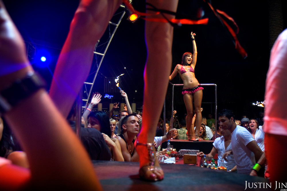 Russians relax at the Aura Club in Antalya, on Turkey's Mediterranean coast. Russia's new wealth is allowing its citizens to travel to places they once could not.