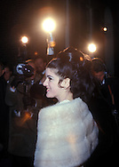 A 27MG IMAGE OF:.Luci Baines Johnson  at the door of the Harriman residence in Georgetown after a party for Lynda Byrd  Johnson  and Chuck Robb before their WWhite House wedding in December 1967....Photgraph by Dennis Brack BS B13