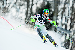 """Lavtar Katarina (SLO) competes during FIS Alpine Ski World Cup 2014/15 5th Ladies' Slalom race named """"Snow Queen Trophy 2015"""", on January 4, 2015 in Course Crveni Spust at Sljeme hill, Zagreb, Croatia.  Photo by Vid Ponikvar / Sportida"""