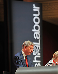 Scottish Labour leader Richard Leonard at the opening of the Scottish Labour conference at the Caird Hall in Dundee.<br />
