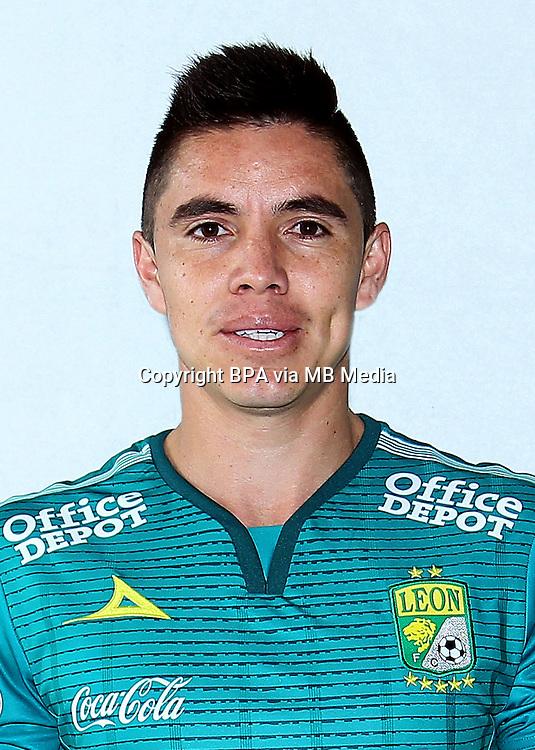Mexico League - BBVA Bancomer MX 2015-2016 - <br /> Los Panzas Verdes - Club Leon Futbol Club / Mexico - <br /> Efrain Velarde Calvillo