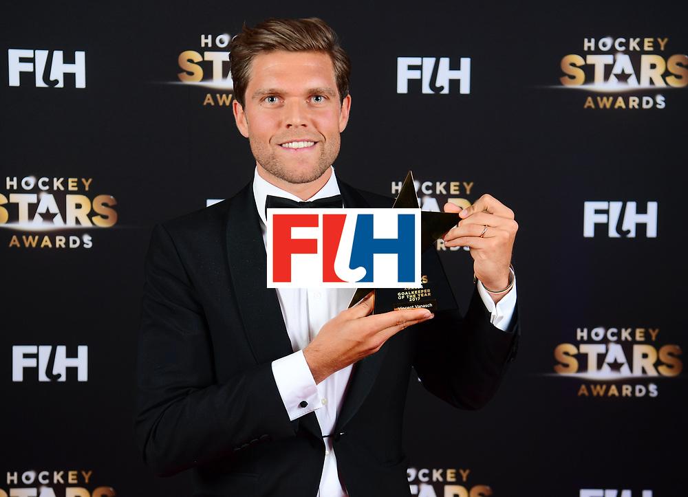 BERLIJN - FIH Hockey Stars Awards<br /> Foto: Male Goalkeeper of the Year<br /> Vincent Vanasch<br /> WORLDSPORTPICS COPYRIGHT FRANK UIJLENBROEK