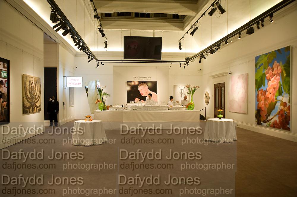 Contemporary art Turkish. Sothebys. New Bond St. London. 2 March 2009 *** Local Caption *** -DO NOT ARCHIVE -Copyright Photograph by Dafydd Jones. 248 Clapham Rd. London SW9 0PZ. Tel 0207 820 0771. www.dafjones.com<br /> Contemporary art Turkish. Sothebys. New Bond St. London. 2 March 2009