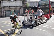 Pedalbus, cyclist, bus, , London Bridge, London, 21 June 2018