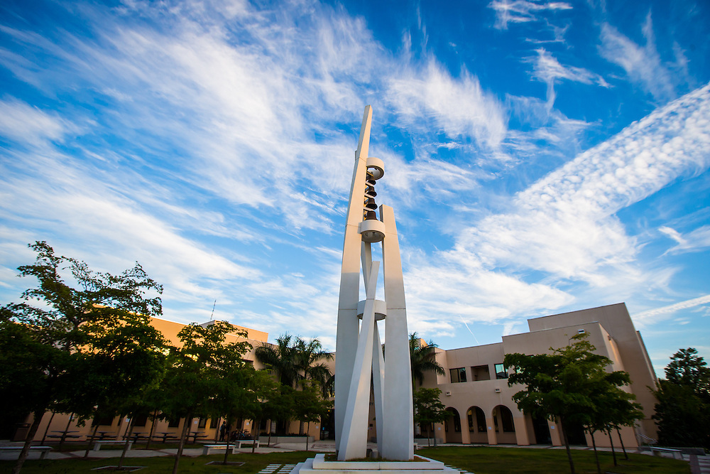 SARASOTA, FL -- August 19, 2016 -- Clouds move over campus at sunset at New College of Florida in Sarasota, Florida. (PHOTO / New College of Florida, Chip Litherland)