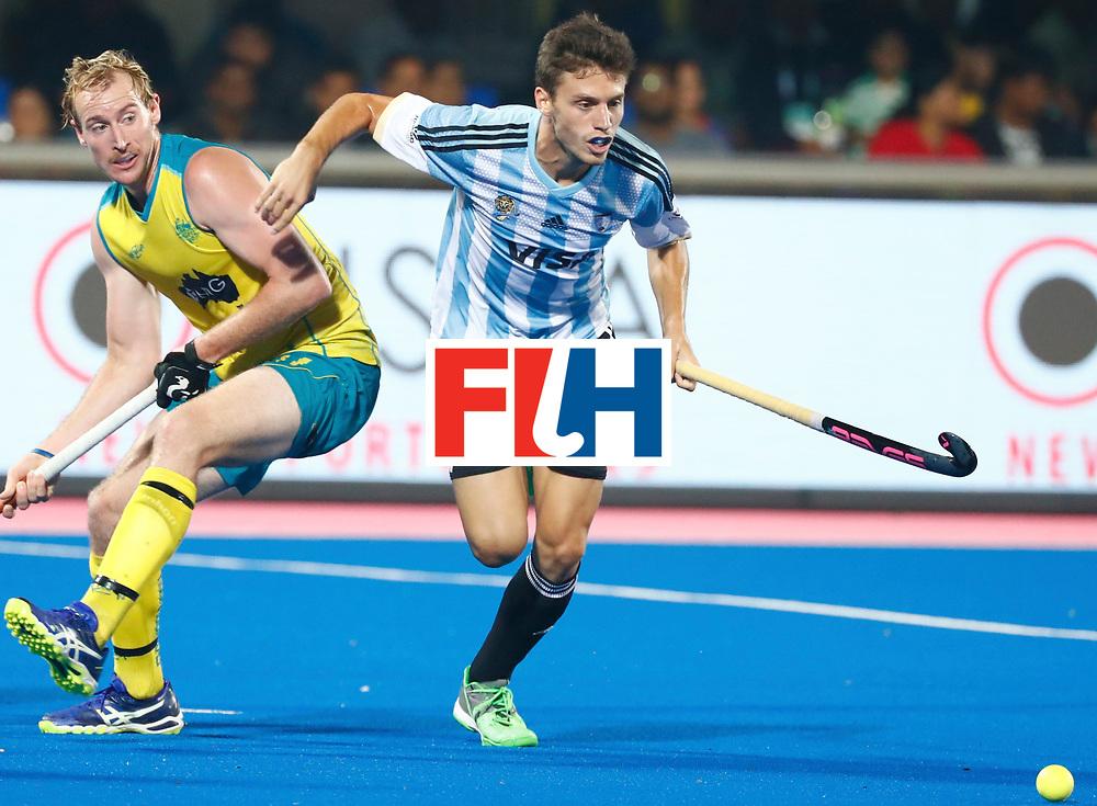 Odisha Men's Hockey World League Final Bhubaneswar 2017<br /> Match id:22<br /> Argentina v Australia<br /> Foto: Santiago Tarazona (Arg) <br /> WORLDSPORTPICS COPYRIGHT KOEN SUYK