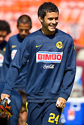 August 3, 2010; San Francisco, CA, USA;  Club America forward Daniel Marquez (24) practices at Candlestick Park a day before their match with Real Madrid.