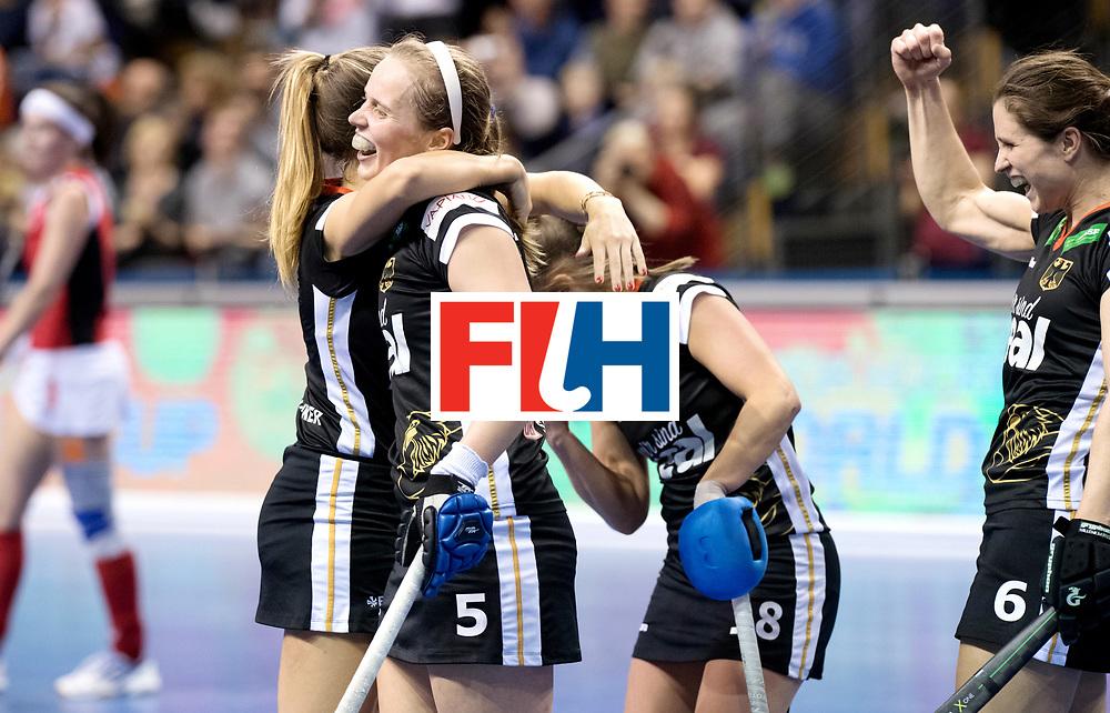 BERLIN - Indoor Hockey World Cup<br /> Quarterfinal 3: Germany - Poland<br /> foto: Germany wins. Viktoria Huse.<br /> WORLDSPORTPICS COPYRIGHT FRANK UIJLENBROEK