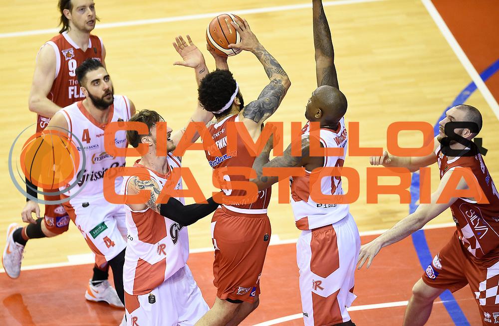 Terran Petteway<br /> Grissin Bon Pallacanestro Reggio Emilia - The Flexx Pistoia Basket<br /> Lega Basket Serie A 2016/2017<br /> Reggio Emilia, 30/04/2017<br /> Foto A.Giberti / Ciamillo - Castoria