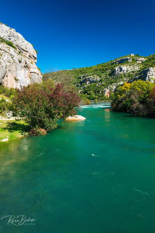The Krka River at Roski Slap, Krka National Park, Dalmatia, Croatia