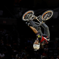 Jun 13, 2013; San Antonio, TX, USA; Performers do BMX tricks during the third quarter of game four of the 2013 NBA Finals between the Miami Heat and the San Antonio Spurs at the AT&T Center. Mandatory Credit: Derick E. Hingle-USA TODAY Sports