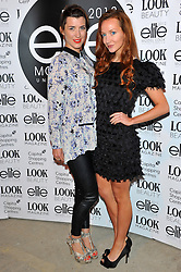 Izzy Lawrence & Olivia Grant arriving at the final of the Elite Model Look 2012 competition in London on Thursday, 30th August 2012.  Photo by: Chris Joseph / i-Images