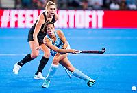 Londen - Lucina Von Der Heyde (Arg)   tijdens de cross over wedstrijd Argentinie-Nieuw Zeeland (2-0)  bij het WK Hockey 2018 in Londen .  COPYRIGHT KOEN SUYK