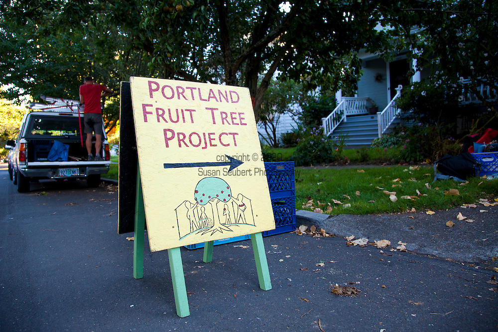 Portland Fruit Tree Project is a grass-roots non-profit organization that provides a community-based solution to a critical and growing need in Portland and beyond: Access to healthy food. By empowering neighbors to share in the harvest and care of urban fruit trees, the Fruit Tree Project is preventing waste, building community knowledge and resources, and creating sustainable, cost-free ways to obtain healthy, locally-grown food.  The Portland Fruit Tree Project organizes people to gather fruit before it falls, and make it available to those who need it most. The Project registers fruit and nut trees throughout the city, bringing people together to harvest and distribute thousands of pounds of fresh fruit each year, and teach tree care and food preservation in hands-on workshops.