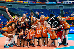 03-10-2018 NED: World Championship Volleyball Women day 5, Yokohama<br /> Argentina - Netherlands 0-3 / Team NL after 3-0 win