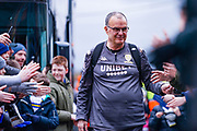 Marcelo Bielsa of Leeds United (Manager) arrives at the ground during the EFL Sky Bet Championship match between Leeds United and Sheffield Wednesday at Elland Road, Leeds, England on 11 January 2020.