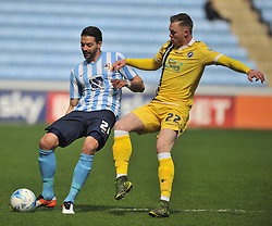 MARK BEEVERS MILLWALL, AARON MARTIN COVENTRY CITY, Coventry City v Millwall Sky Bet League One, Ricoh Arena, Saturday 16th April 2016<br /> Score 2-1