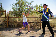 Photo by Matt Roth<br /> <br /> Chief Constable Alexis Baugh and President Kevin Baugh &hellip;uh, conduct military exercises close to the Molossian border of the United States Monday, August 12, 2013 XXXVI. The Republic of Molossia is a tiny micronation run by fifty-one-year-old President Kevin Baugh an his family. The micronation is surrounded by Dayton, Nevada.