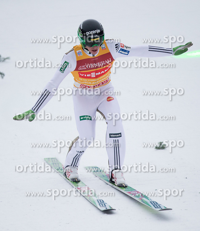 31.12.2015, Olympiaschanze, Garmisch Partenkirchen, GER, FIS Weltcup Ski Sprung, Vierschanzentournee, Training, im Bild Peter Prevc (SLO) // Peter Prevc of Slovenia during his Practice Jump for the Four Hills Tournament of FIS Ski Jumping World Cup at the Olympiaschanze, Garmisch Partenkirchen, Germany on 2015/12/31. EXPA Pictures © 2015, PhotoCredit: EXPA/ Jakob Gruber during his Practice Jump for the Four Hills Tournament of FIS Ski Jumping World Cup at the Olympiaschanze, Garmisch Partenkirchen, Germany on 2015/12/31. EXPA Pictures © 2015, PhotoCredit: EXPA/ Jakob Gruber