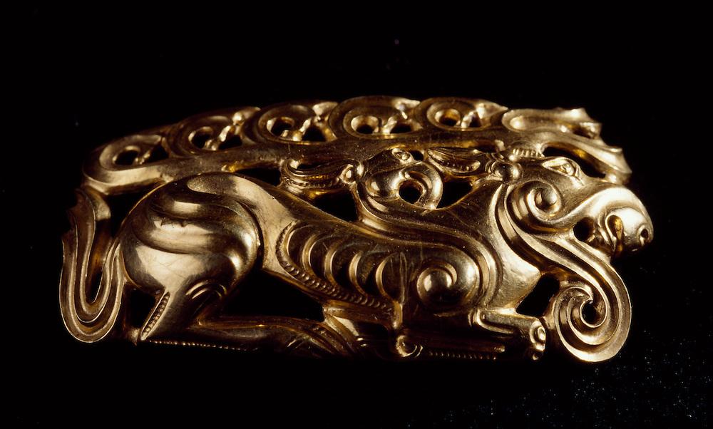 Original Gold DeerDecoration  Belt, Golden Man, Issiq Burial Mound, Kazakhstan