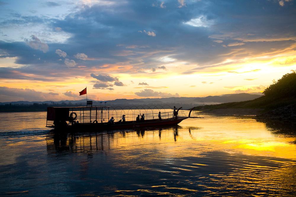 Mekong river near the Dai Minority Park in Yunnan, China.