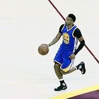08 June 2016: Golden State Warriors guard Leandro Barbosa (19) brings the ball up court during the Cleveland Cavaliers 120-90 victory over the Golden State Warriors, during Game Three of the 2016 NBA Finals at the Quicken Loans Arena, Cleveland, Ohio, USA.