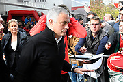 Manchester United manager Jose Mourinho arrives at the Vitality Stadium before the Premier League match between Bournemouth and Manchester United at the Vitality Stadium, Bournemouth, England on 3 November 2018.