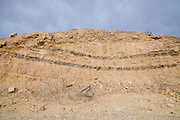 Israel, Arava, Sediment layers on the Graet Rift Valley