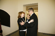 Julia Peyton-Jones, Sam Taylor Wood and Jay Jopling, Ellsworth Kelly exhibition opening. Serpentine Gallery and afterwards at the River Cafe. London. 17 March 2006. ONE TIME USE ONLY - DO NOT ARCHIVE  © Copyright Photograph by Dafydd Jones 66 Stockwell Park Rd. London SW9 0DA Tel 020 7733 0108 www.dafjones.com