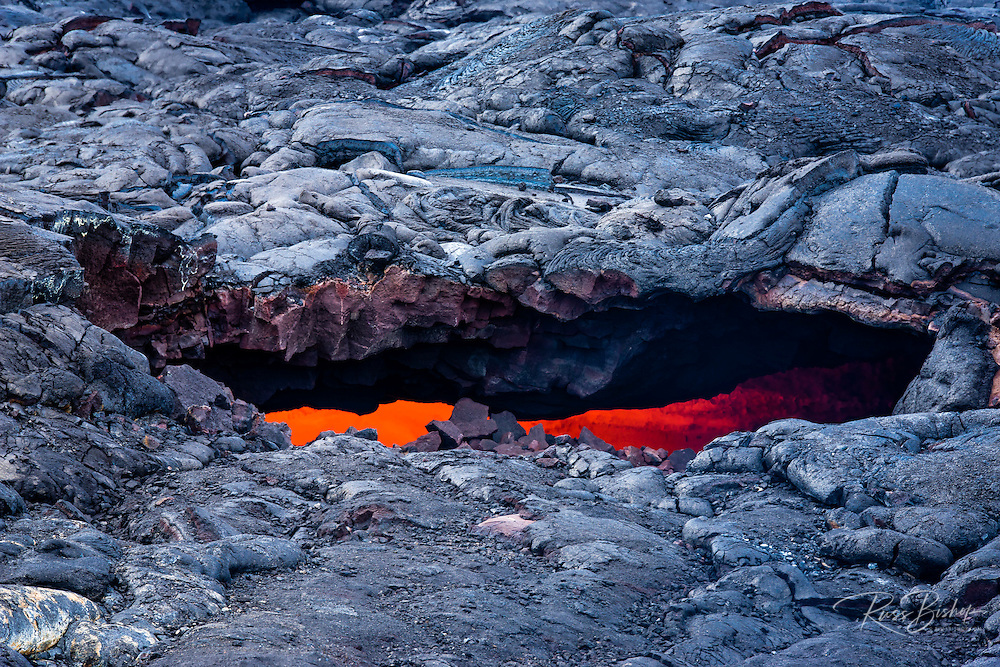 Lava flow skylight, Hawaii Volcanoes National Park, Hawaii USA