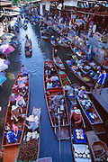 One of three Damnoen Saduak floating markets situated on this canal in Thailand.