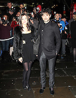 LONDON - DECEMBER 14:   Alex Zane and Lorena Mancini attend the English National Ballet Christmas Party at St Martins Lane Hotel, London, UK on December 14, 2011. (Photo by Richard Goldschmidt)