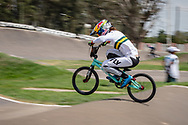 #6 (SAKAKIBARA Saya) AUS during practice at round 1 of the 2018 UCI BMX Supercross World Cup in Santiago del Estero, Argentina.