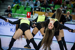 Ladies dance group perform during basketball match between National teams of Slovenia and Latvia in Round #10 of FIBA Basketball World Cup 2019 European Qualifiers, on December 2, 2018 in Arena Stozice, Ljubljana, Slovenia. Photo by Grega Valancic