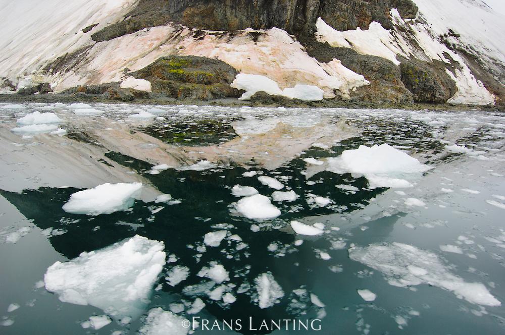 Ice floes near coastline, Paradise Bay, Antarctica