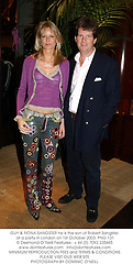 GUY & FIONA SANGSTER he is the son of Robert Sangster,  at a party in London on 1st October 2003.PNG 131
