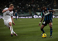Bari (BA), 03-02-2011 ITALY - Italian Soccer Championship Day 23 - Bari VS Inter..Pictured: Eto'o (I) Glik (B).Photo by Giovanni Marino/OTNPhotos . Obligatory Credit