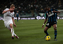 Bari (BA), 03-02-2011 ITALY - Italian Soccer Championship Day 23 - Bari VS Inter..Pictured: Eto'o (I) Glik (B).Photo by Giovanni Marino/OTNPhotos . Obligatory Credit