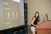 """This is Amy Kasparian at  the """"Hackness to Justice 2014 Hackathon"""" session at the 2014 annual meeting of the American Bar Association in Boston at Suffolk University Law School.  photo by Kathy Anderson"""